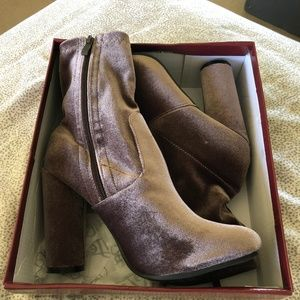 Forever Passion Suede Cylinder Boots